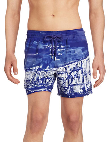 Vilebrequin Moorea Printed Swim Trunks-PURPLE-X-Large