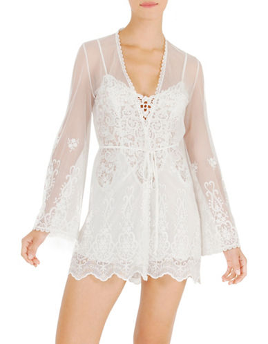 In Bloom Crochet Wrap Robe-IVORY-Medium/Large