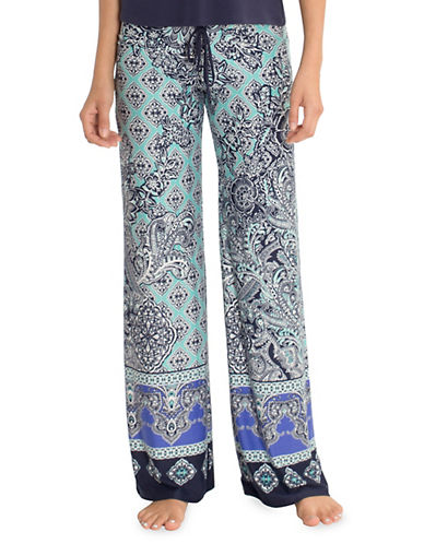 In Bloom Multi-Pattern Lace Pyjamas-BLUE MULTI-X-Large