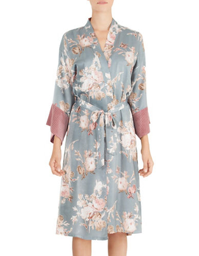 Midnight Bakery Floral Kimono Robe-FLORAL PRINT-Medium