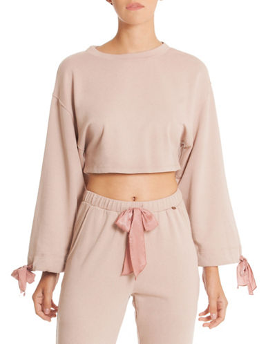 Midnight Bakery Willow Crop Top-TAUPE-Small