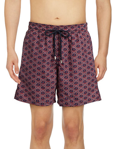 Vilebrequin Ancre de Chine Swim Trunks-BLUE-Small