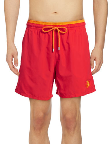 Vilebrequin Unis Bicolores Swim Trunks-RED-Large