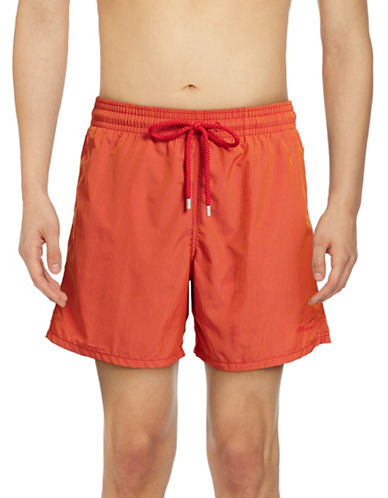 Vilebrequin Micro Rayures Swim Trunks-ORANGE-Medium