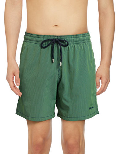 Vilebrequin Micro Rayures Swim Trunks-GREEN-Small