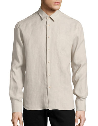 Vilebrequin Caroubis Classic-Fit Linen Sport Shirt-BROWN-Small