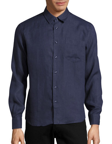 Vilebrequin Caroubis Classic-Fit Linen Sport Shirt-BLUE-Medium