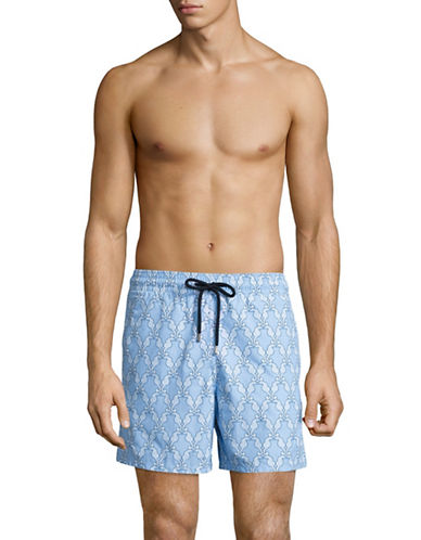 Vilebrequin Seahorse Print Swim Trunks-BLUE-X-Large