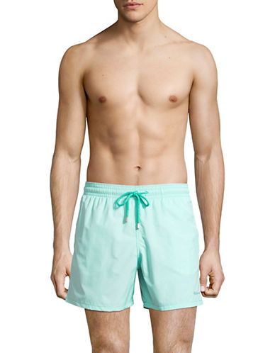 Vilebrequin Micro Rayures Swim Shorts-LIGHT GREEN-Medium