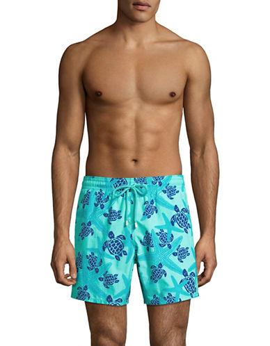 Vilebrequin Starfish and Turtle Swim Shorts-LIGHT GREEN-30X32