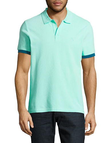 Vilebrequin Short Sleeve Cotton Polo-LIGHT GREEN-X-Large