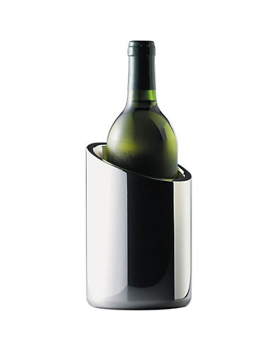 Nambe Tilt Metal Alloy Wine Chiller-SILVER-One Size