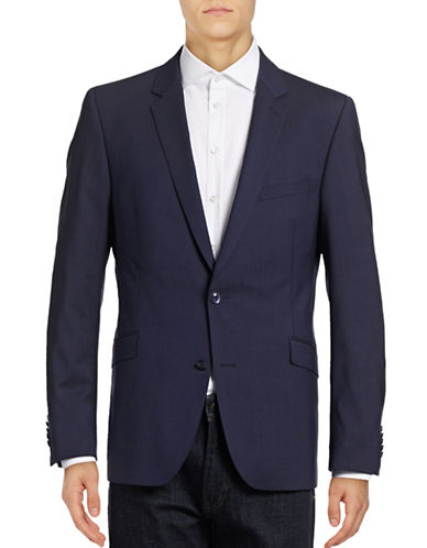 Strellson Gandy Slim-Fit Wool-Blend Sports Jacket-DARK BLUE-44
