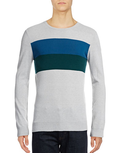 Strellson Colourblock Sweatshirt-BLUE-Medium