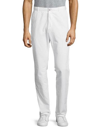 Strellson Rye-D Cotton-Linen Chinos-WHITE-32X34