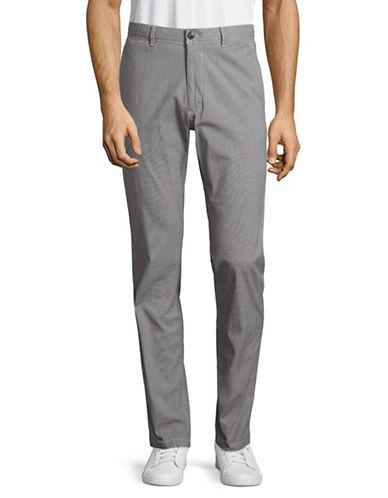 Strellson Rye Stretch Cotton Trousers-GREY-36X34