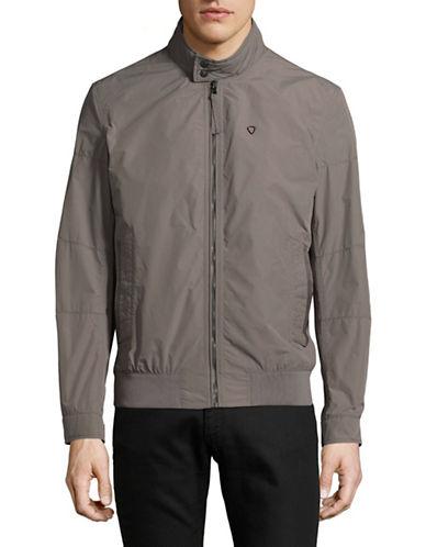 Strellson Mock Neck Multi-Pocket Jacket-BEIGE-40