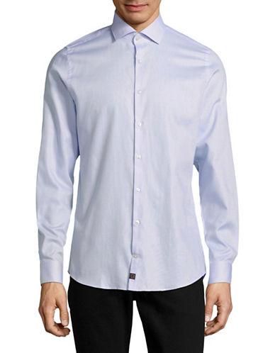 Strellson Grid Print Sport Shirt-BLUE-16-32/33