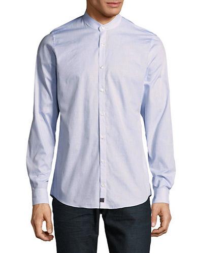 Strellson Mandarin Collar Sport Shirt-BLUE-16.5-32/33