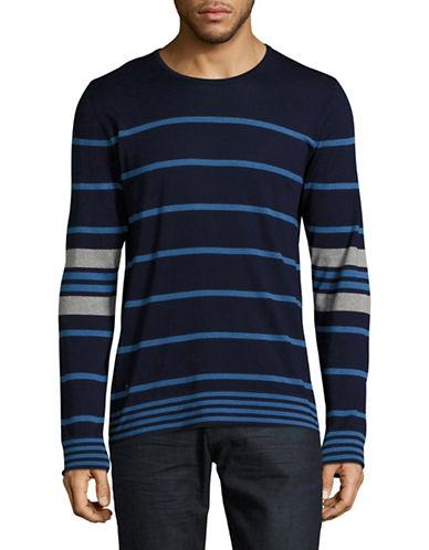 Strellson Vic Striped Crew Sweater-BLUE-X-Large