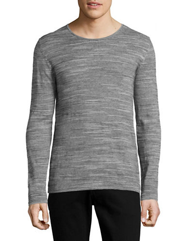 Strellson K-Eston-R Melange Long Sleeve Top-GREY-X-Large 88970360_GREY_X-Large