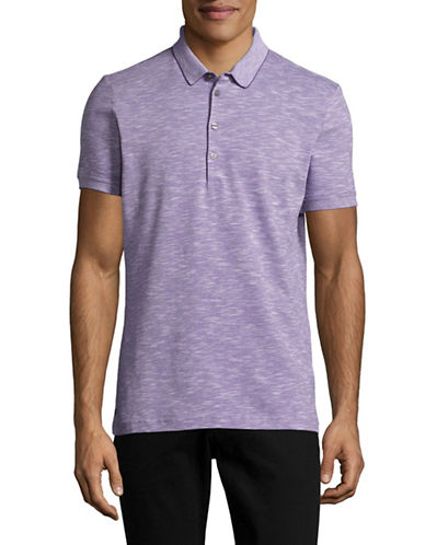 Strellson Heathered Polo-PURPLE-Small