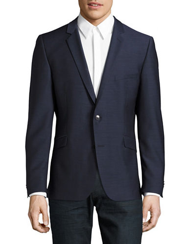Strellson Woven Wool Sports Jacket-BLUE-44