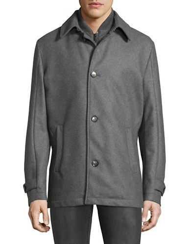 Strellson Moby Wool-Blend Jacket-GREY-46
