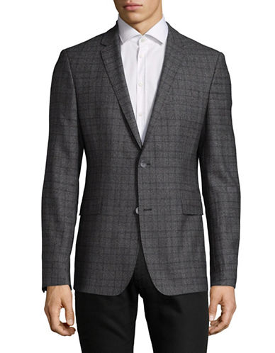Strellson Wool Corso Checked Sports Jacket-GREY-40
