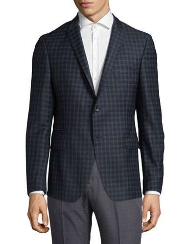 Strellson Wool Check Sport Jacket-NAVY-46