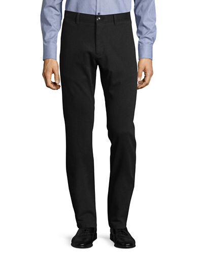 Strellson Rye Textured Pants-BLACK-32X34