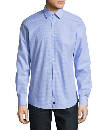 Strellson Slim Fit Printed Sport Shirt-BLUE-16.5-32/33
