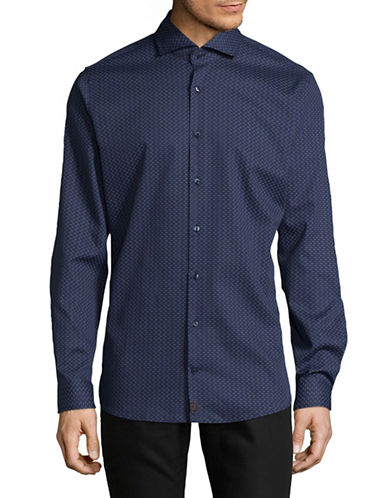 Strellson Printed Slim-Fit Shirt-BLUE-15.5-34/35
