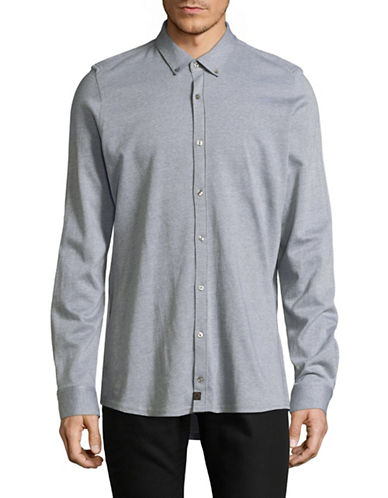 Strellson Spence-J Slim-Fit Knit Shirt-GREY-16.5-32/33