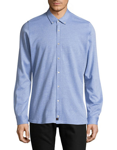 Strellson Spence-J Slim-Fit Knit Shirt-BLUE-16-32/33