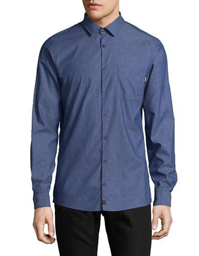 Strellson Printed Slim-Fit Shirt-BLUE-Large