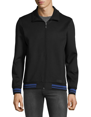 Strellson Striped Trim Track Jacket-BLACK-Medium 89301097_BLACK_Medium