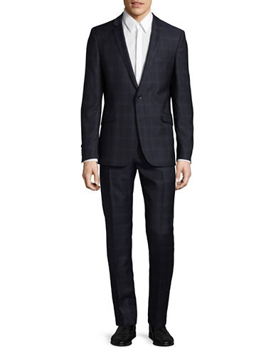 Strellson Allen-Mercer Wool Suit-BLUE-42 Tall