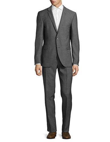 Strellson Rick-James Wool Suit-GREY-42 Tall