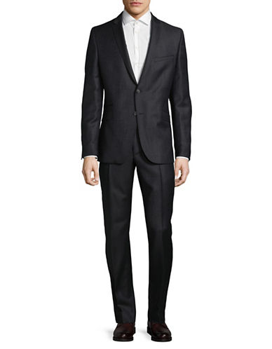 Strellson Scor Mercer Wool Suit-BLUE-40