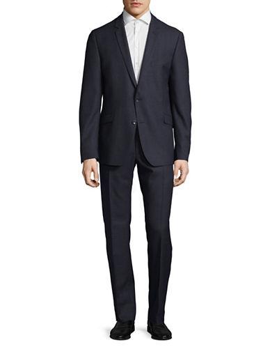 Strellson Allen-Mercer Dobby Weave Virgin Wool Suit-BLUE-44