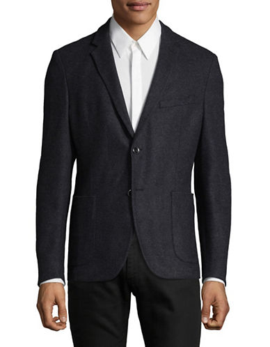 Strellson Glen Plaid Blazer-CHARCOAL-42