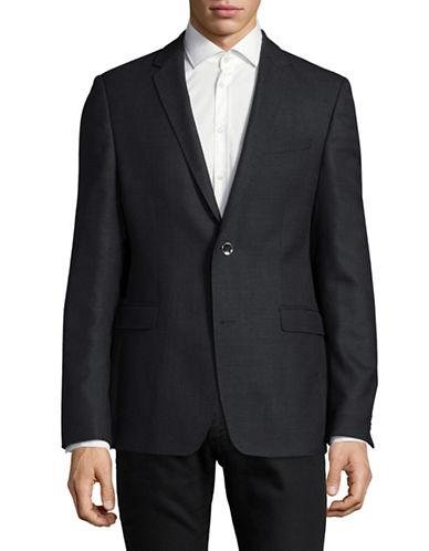 Strellson Corso Textured Wool Jacket-BLUE-38