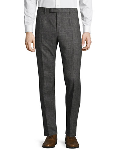 Strellson Quinte Tonal Wool-Blend Pants-GREY-36