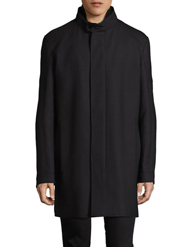 Strellson Wool-Blend Coat-BLACK-38