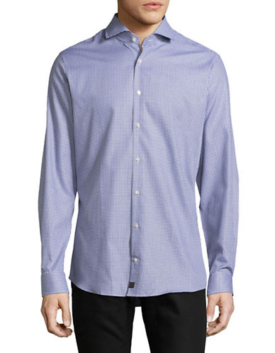 Strellson Printed Slim-Fit Shirt-BLUE-14.5-32/33