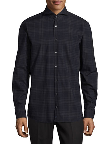 Strellson Saverio Cotton Sport Shirt-BLUE-16.5-32/33