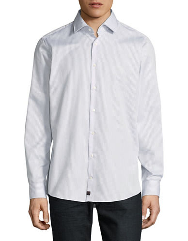 Strellson Slim-Fit Cotton Sport Shirt-GREY-15.5-34/35
