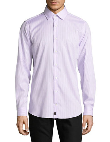 Strellson Slim-Fit Cotton Sport Shirt-PURPLE-16.5-32/33