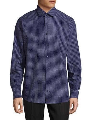 Strellson Slim-Fit Cotton Sport Shirt-BLUE-15.5-34/35